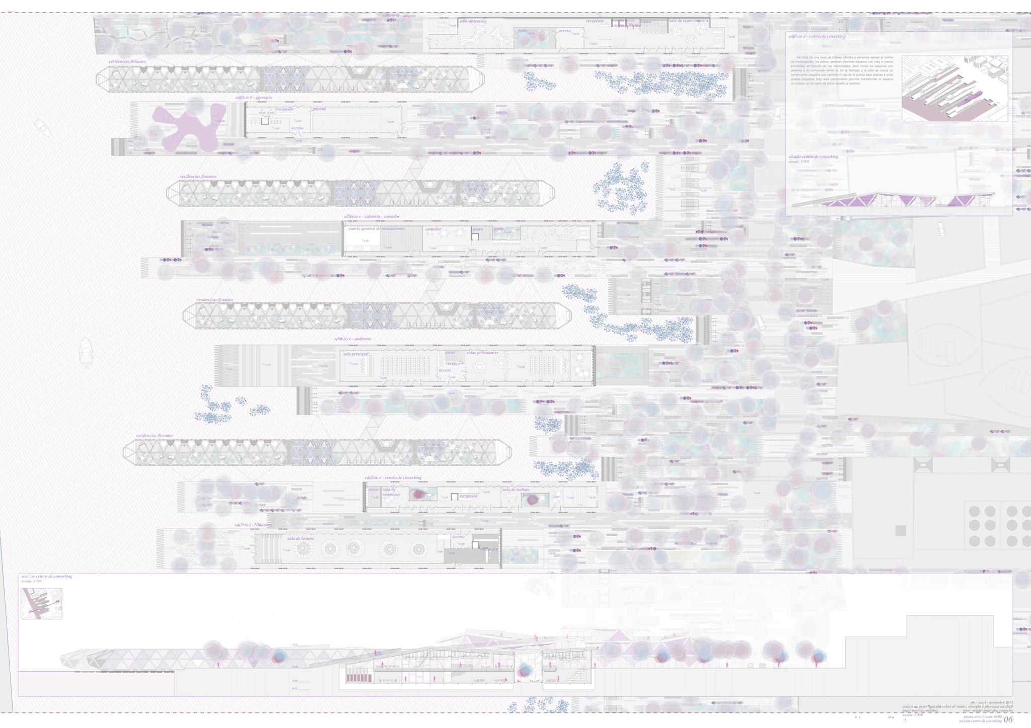 06_Planta nivel 0 y seccion coworking